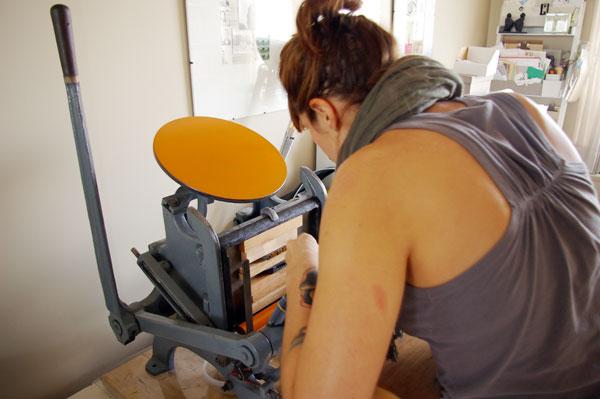 bryonie adjusting cardstock