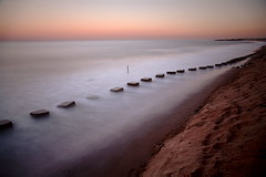 Blyth Beach High Tide (Mark Innes) Tags: ocean sea beach landscape high sand tide timeexposure northumberland blocks blyth canon24105mm 10stop canon5dmk2 5dm2 wardefense