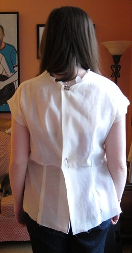 Sencha Blouse Muslin Back View