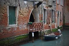 Marco Polo's house in Venice (Le Shann) Tags: venice italy brick wall boat canal quiet calm venise venezia barque marcopolo