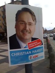 Landtagswahl NRW 2010: Wahlplakat von Christian Haardt (CDU)
