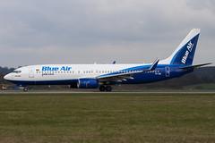 YR-BIC - 33019 - Blue Air - Boeing 737-8BK - Luton - 100404 - Steven Gray - IMG_9556
