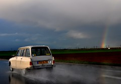Rain... (CitroenAZU) Tags: sky en france car rain regenboog dark rainbow break citroen arc 8 voiture ciel ami frankrijk lucht regen plui