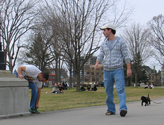 02april10013 (buzzchap) Tags: park blue friends summer dog man hot cute sexy male men guy jock puppy outdoors nice baseball sweet masculine sandals gorgeous awesome beefy handsome hunk cutie dude jeans cap lad denim bluejeans macho littledog stud hunky chunky bulky baseballcap malecouple