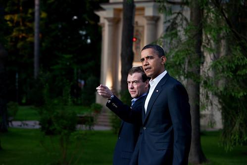 Obama-Medvedev New START talks