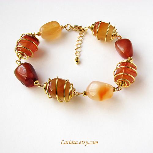 semiprecious carnelian bracelet by Lariata
