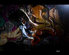 day110- VOID (Reel Pixel) Tags: graffiti jump action 365 day36 actionshot graffitiwall sb800 project365 pocketwizards nikon35mmf2d strobist nikond700 houstoncommercialphotography latenitepiehouston