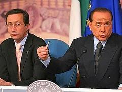 Silvio Berlusconi e Gianfranco Fini