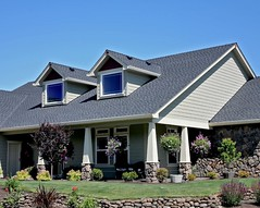 american craftsman style house (jmgcontractor) Tags: life door new wood flowers blue trees windows sky urban plants house building green home beautiful grass architecture modern yard garden real living estate suburban space suburbia lifestyle property structure driveway american walkway porch housing stonewall spacious lovely residence expensive craftsman twostory residential rockwall brandnew mortgage garagedoor dwelling dormers roofpeak craftsmanstyle