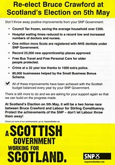 SNP Scottish Election Leaflet, 2011 (Scottish Political Archive) Tags: party scotland election stirling scottish msp national publicity campaign crawford snp 2011