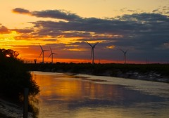 A Riverside Sunset (Ryan J. Nicholson) Tags: sunset sky orange colour nature clouds river countryside other glow no yorkshire like east ouse goole