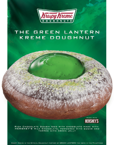 Krispy Kreme Introduces The Green Lantern Kreme Doughnut
