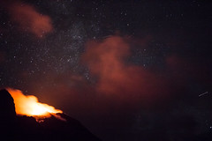Stromboli 22 (gsamie) Tags: 600d aeolianislands canon guillaumesamie isoleeolie italy rebelt3i sicilia sicily stromboli vulcano black clouds eruption fire gsamie lava longexposure mountain night stars volcano