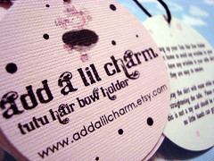 add a lil charm - double-sided hang tags