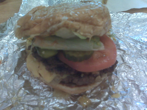 Cheeseburger at Five Guys