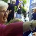 Audrey Long greets John Easton
