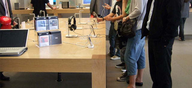 Tables in Apple Stores