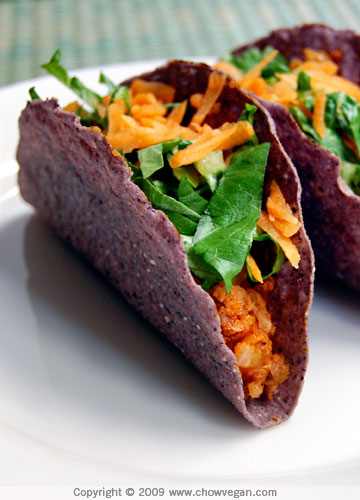 VeganMoFo: Potato and Chorizo Tacos