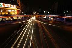 Zhuhai - Xiangzhou, Traffic Trails (cnmark) Tags: china road bridge motion phoenix night geotagged noche movement long exposure cityscape traffic footbridge nacht trails pedestrian explore guangdong noite  nuit notte zhuhai fenghuang nachtaufnahme   explored allrightsreserved xiangzhou  platinumphoto  geo:lat=22286575 geo:lon=113568699 mygearandmepremium mygearandmebronze mygearandmesilver