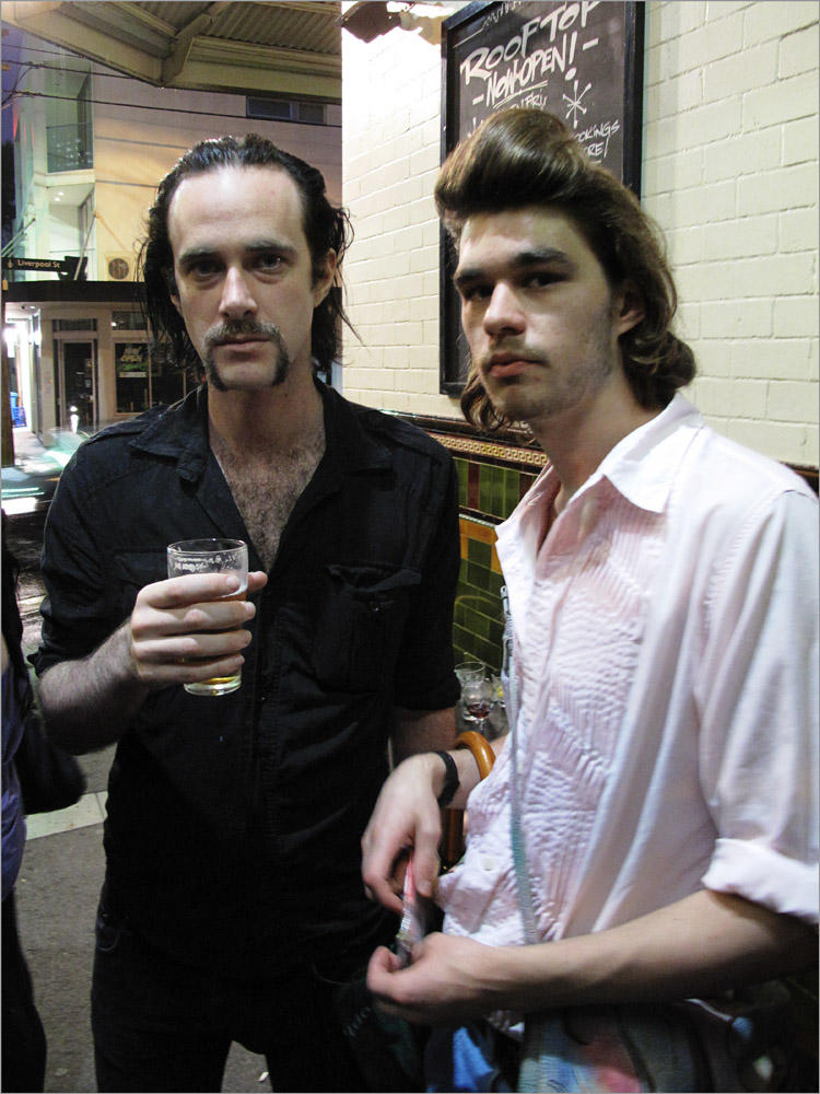 Nick Cave Style Mo and quiff on Palmer St East Sydney