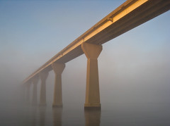 Foggy Solomons Island Bridge 4
