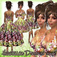 Hawaiian Dress (Moss-multi)