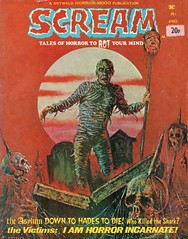 Scream published by Skywald for Sept 1974. Cover by Faba