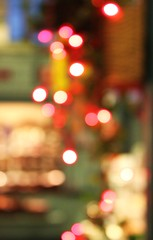 Colorful market-hall bokeh. (Hannhell) Tags: blue red lights colorful bokeh tampere markethall