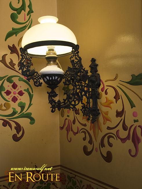 Villavicencio House Lamp and Art Noveau Walls