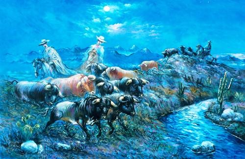 Los toros y la luna por Goyo Menaut