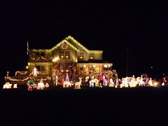 I bet you can see this house from space (1987porsche944) Tags: decorations light music night lights newjersey darkness awesome nj christmaslights christmasdecorations monmouthcounty clarkwgriswold