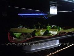Bajo el grill o asador del horno