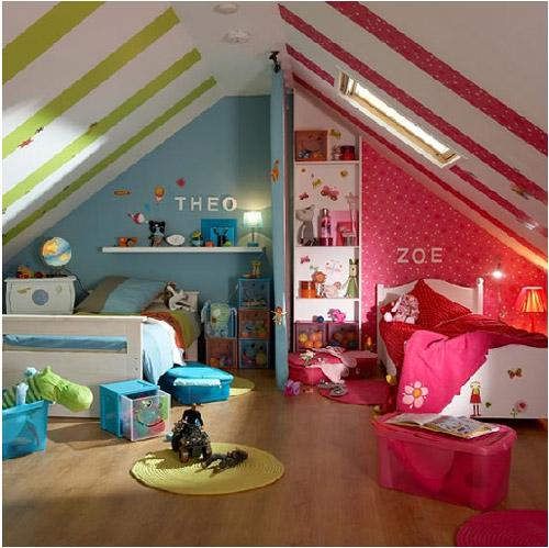 Como dividir una habitación para niño y niña