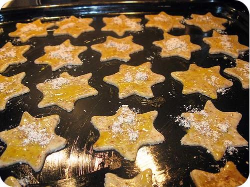 Mandelplätzchen stars