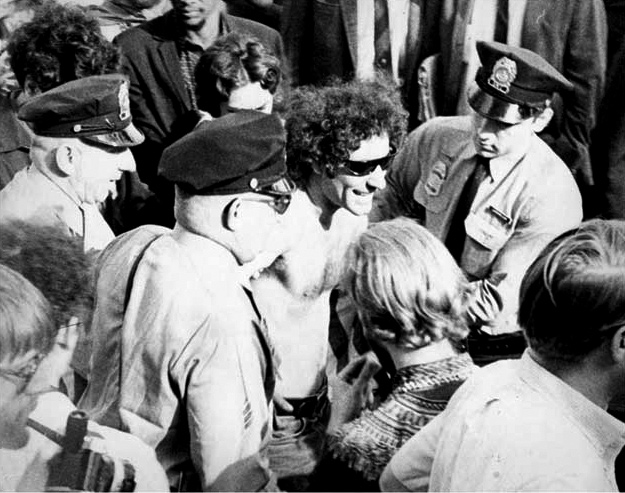 Anti-War Activist Abbie Hoffman Arrested in Chicago ca. 1969