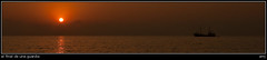 el final de una guardia (soybuscador) Tags: españa sol sunrise spain flickr barco ibiza reflejo naranja 2009 nube rocas baleares algas posidonia escavallet soybuscadorgmailcom