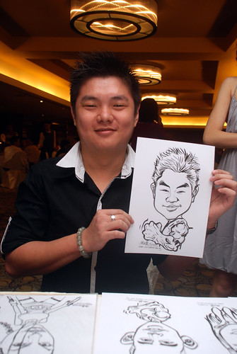 Caricature live sketching for Hock Cheong Printing Pte Ltd D&D 2009 - 8