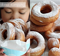 Donat Kampung collage (Pinot & Dita) Tags: food canon bread donut roti 50mmf14 donat foodphotography eos500d
