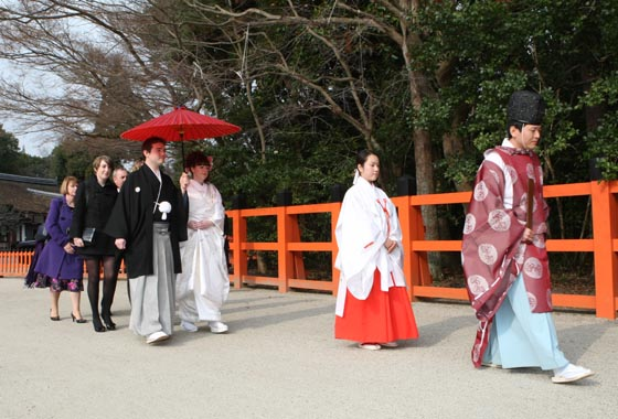 Following the Priest and Miko(shrine maiden) into the main shrine