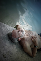 Relax, Age Doesn't Matter - 2 (Ben Heine) Tags: agedoesntmatter relax takeiteasy life old vieux mature experience chest naked nu vieilhomme coucher sleep dormir lake river epicurisme water eau reflection oldman peaceful paisible wind nature benheine horizon d70nikon creative composition photography art sky ciel landscape earth conceptual camera manipulation montage lumire light luminosity infotheartisterycom lens dof pov perspective cloudy emptiness vide space clouds cs4 photoshop breathe air oxygen atmosphere freedom libert vrijheid wallpaper poster modernart lights print reproduction exclusive copyrights fog brouillard mist