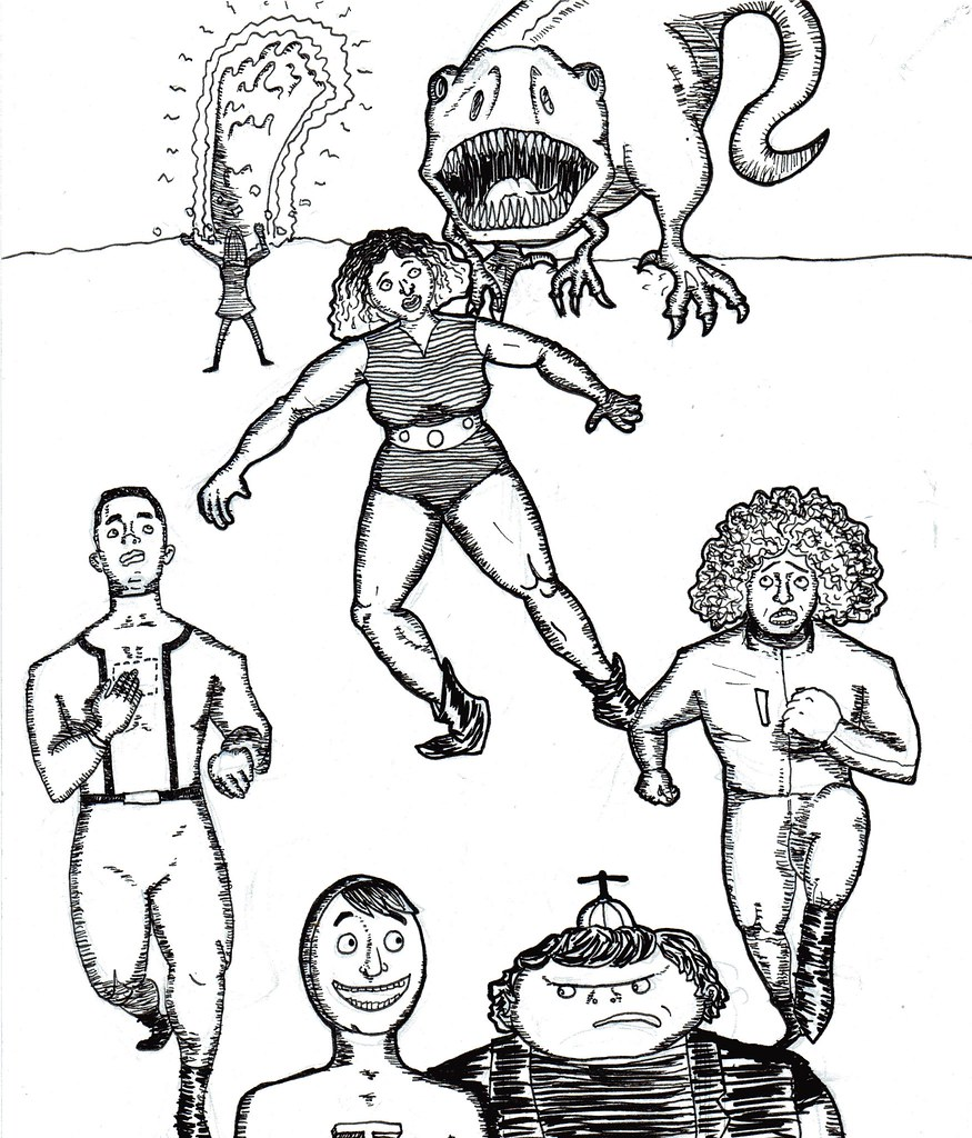 "Characters from Rachel Freire's ""LEAGUE!!"""
