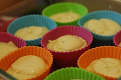 cupcakes (mononokin) Tags: colors cupcakes mixture molds