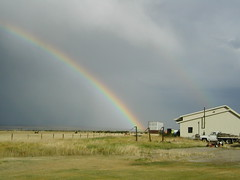OLYMPUS DIGITAL CAMERA (bootjack ranch) Tags: usa landscape rainbow wyoming cora bootjackranch
