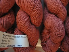 "Cherry Tree Hill Supersock Solids ""Nantucket Red"""