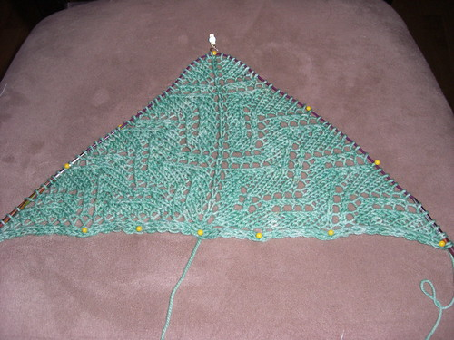 Wisteria Shawl Progress