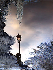 a new point of view (Rino Alessandrini) Tags: winter cold reflection lamp rain clouds puddle hole backwards asphalt buco inverno asfalto pioggia freddo lampione riflesso nuvoloso pozzanghera rilesso reread alcontrario platinumheartaward artofimages bestcapturesaoi elitegalleryaoi