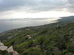 Montée vers la tour de Santa Manza : vue vers le Sud