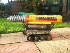 Gerry Anderson's Thunderbirds: The Mole Model Made From Recycled Materials - 4 of 4 (Kelvin64) Tags: red rescue art water truck fire corgi artwork model 60s engine international anderson lorry 1960s thunderbirds mole emergency tender diorama matchbox gerry brigade dinky