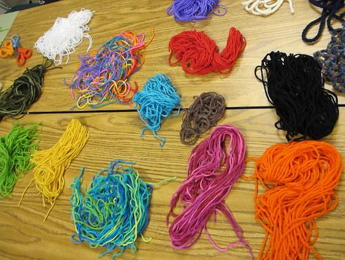 Piles o' yarn
