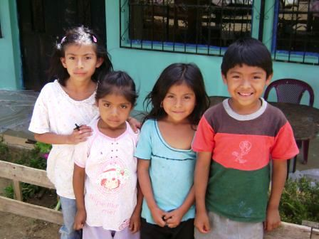 Guatamala shoe donation - Kids at the school